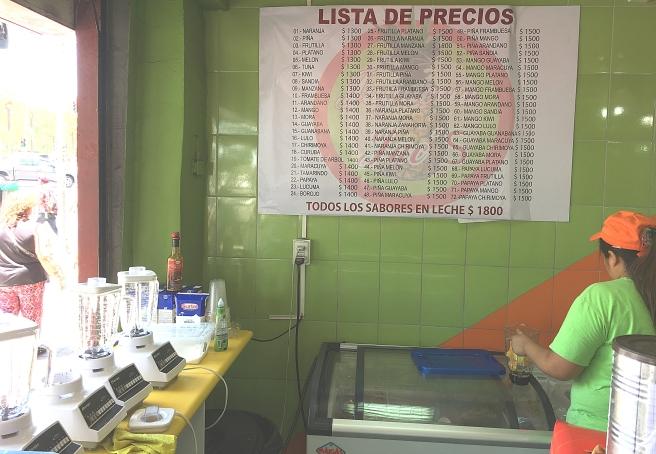 santiago juice drinks