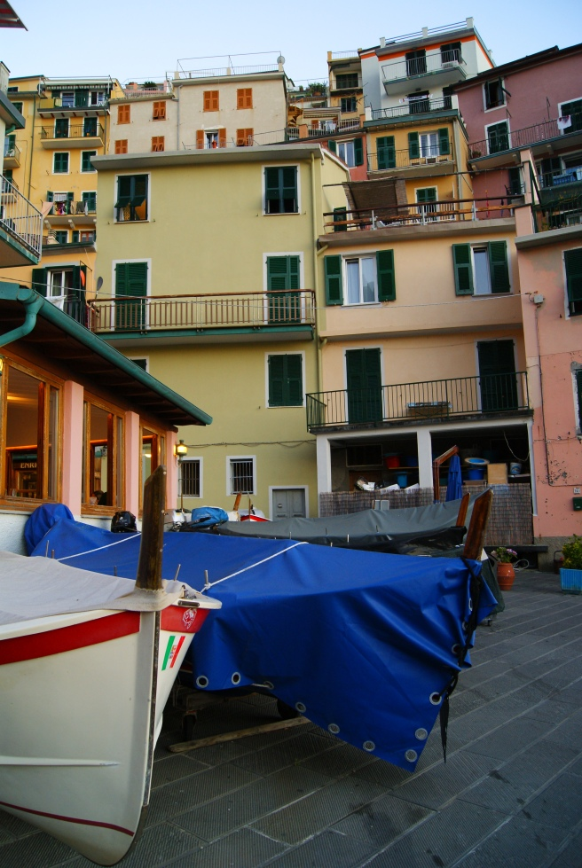 Fishing boats in Manarola