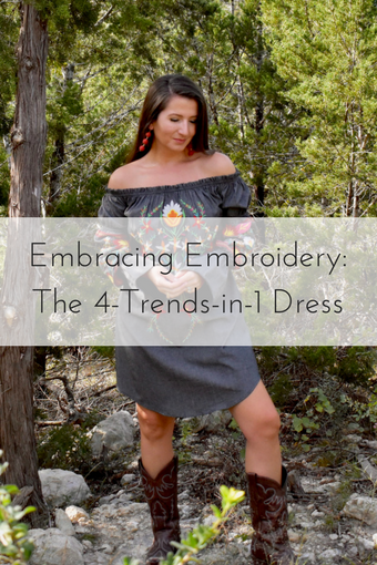 Embracing Embroidery- The 4-trends-in-1 Dress - Cathedrals and Cafes Blog - Style Blogger - Fashion - Outfits