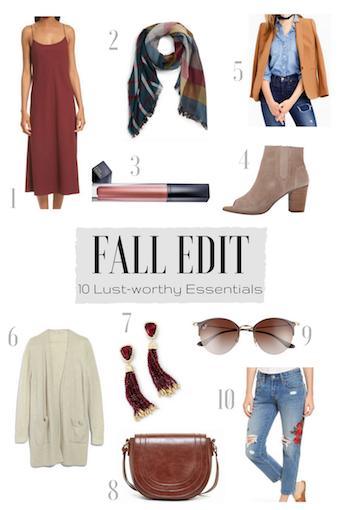 Fall Edit - Fall Fashion - Fashion Trends - Women's Fashion - Fashion Blogger - Fall Style - Style Inspiration - Wardrobe