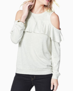 Cold Shoulder Ruffle Sweater