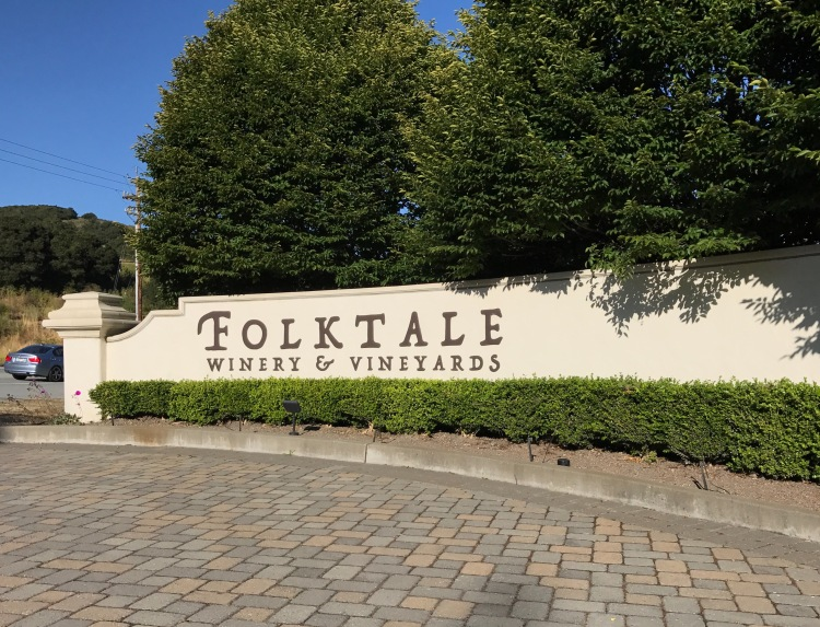 Entrance gate to Folktale Winery and Vineyards