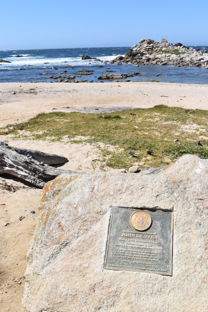 John Denver Memorial plaque in monterey bay california