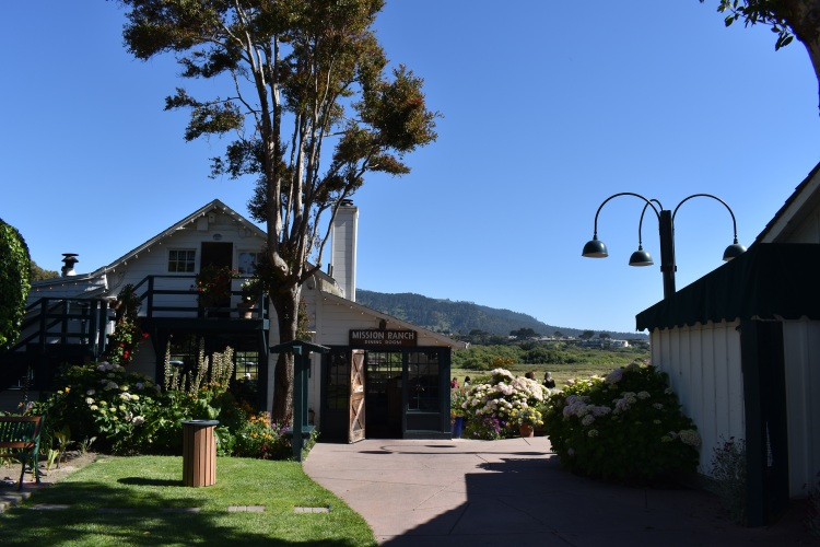 the entrance to mission ranch restaurant in carmel