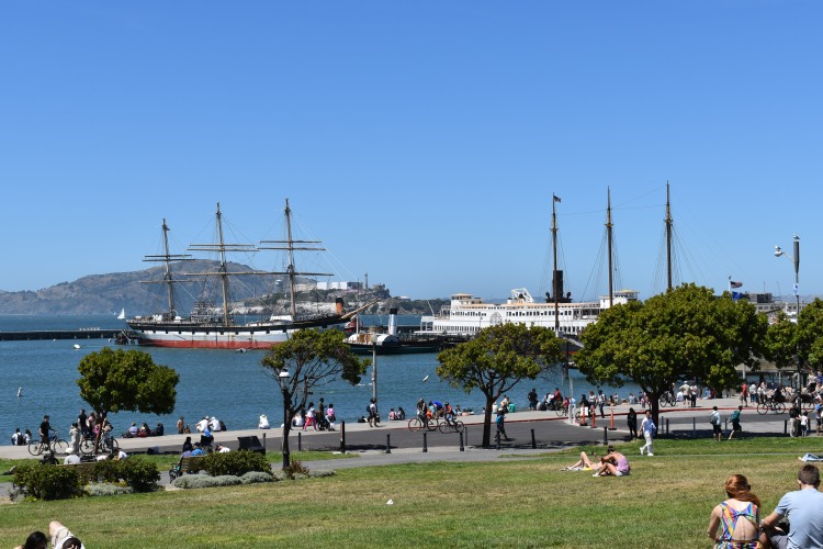 view of boats in fisherman's wharf san francisco