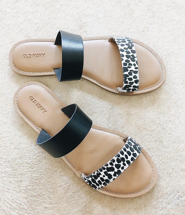 double strap flat sandals from old navy