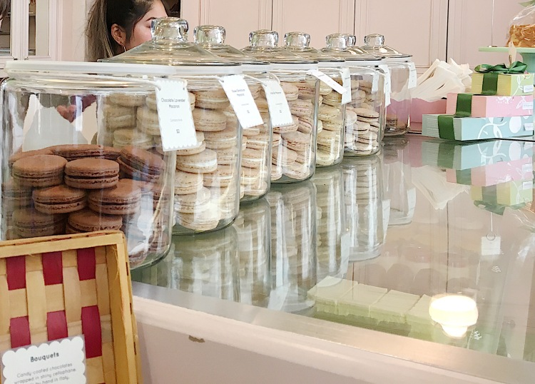 a selection of macarons from miette cakes in san francisco
