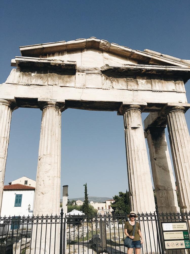 The Roman Agora in Athens, Greece