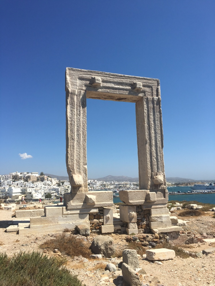 The Temple of Apollo with Naxos Town behind it