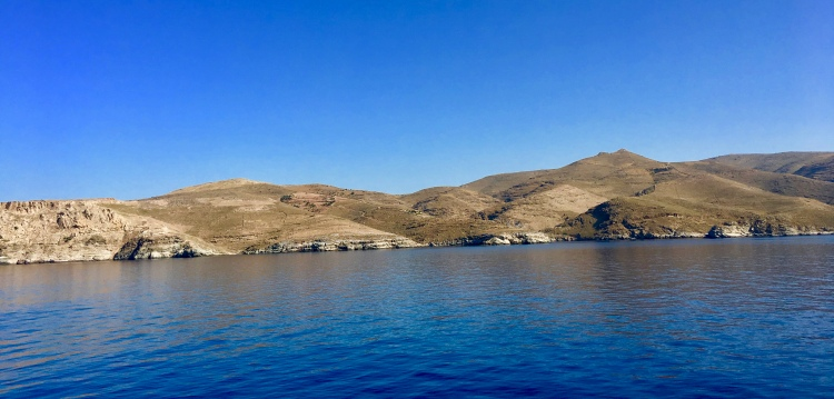 View of Greek islands from Sea Jets ferry