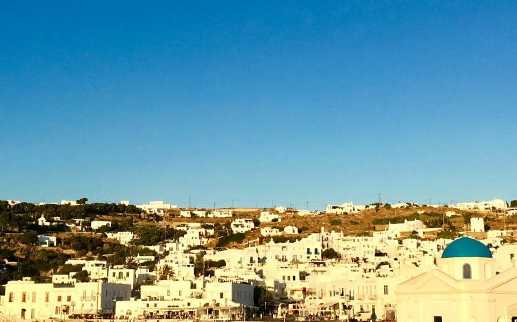 Port view of Mykonos