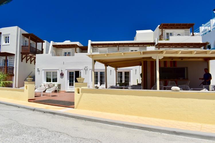 View of Nissaki Beach Hotel, Naxos Greece