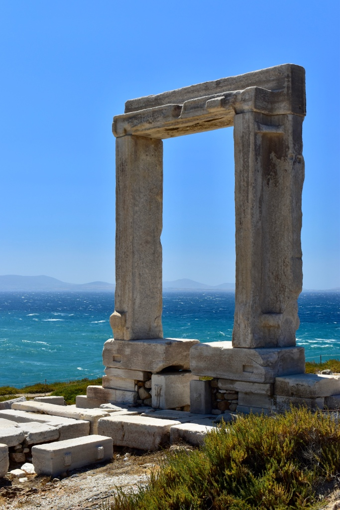 The Temple of Apollo facing the sea in Naxos, Greece