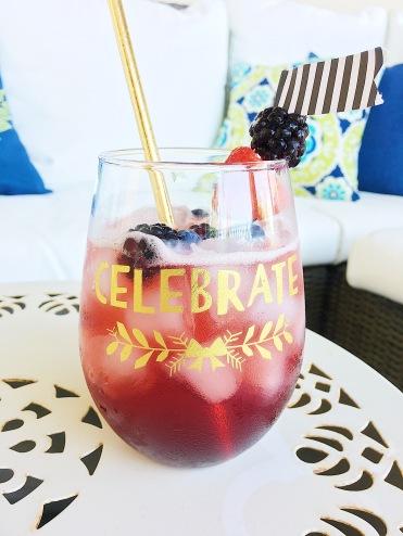 Blackberry Wine Spritzer Summer Cocktail Recipe