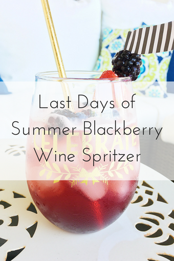 Last Days of Summer Blackberry Wine Spritzer Cocktail Recipe