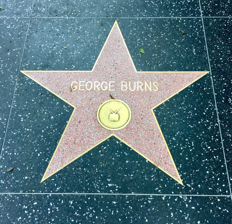 George Burns' star on the Hollywood Walk of Fame in Los Angeles