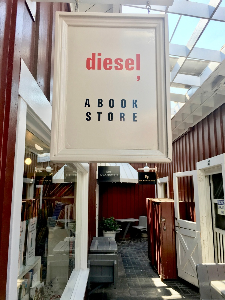 The entrance to Diesel, a book store in Brentwood Country Mart