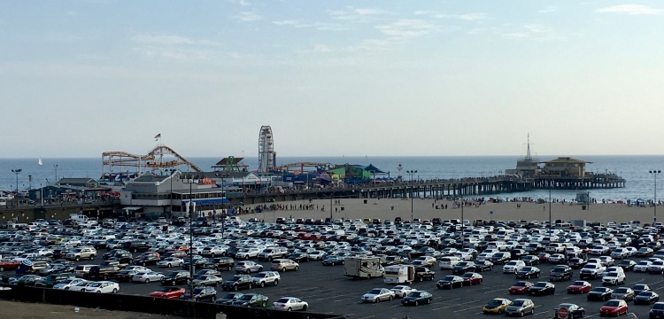 Carnival rides on the Santa Monica Pier