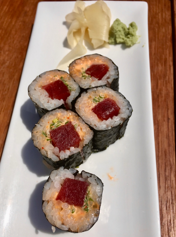 Spicy tuna roll, Nobu restaurant, Malibu California