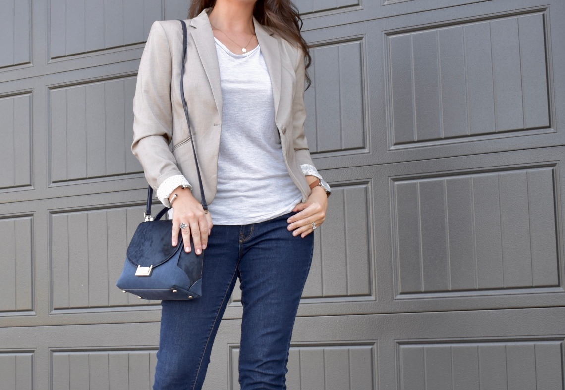 Cathedrals and Cafes Blog | Office Style: Business Casual Meets Chic | workwear, office style, blazer, jeans, structured bag