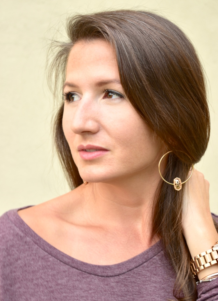 Cathedrals and Cafes Blog | Shopping for a Cause with Kendra Scott | Elora Earrings | Rose Gold