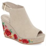 Embroidered Wedge