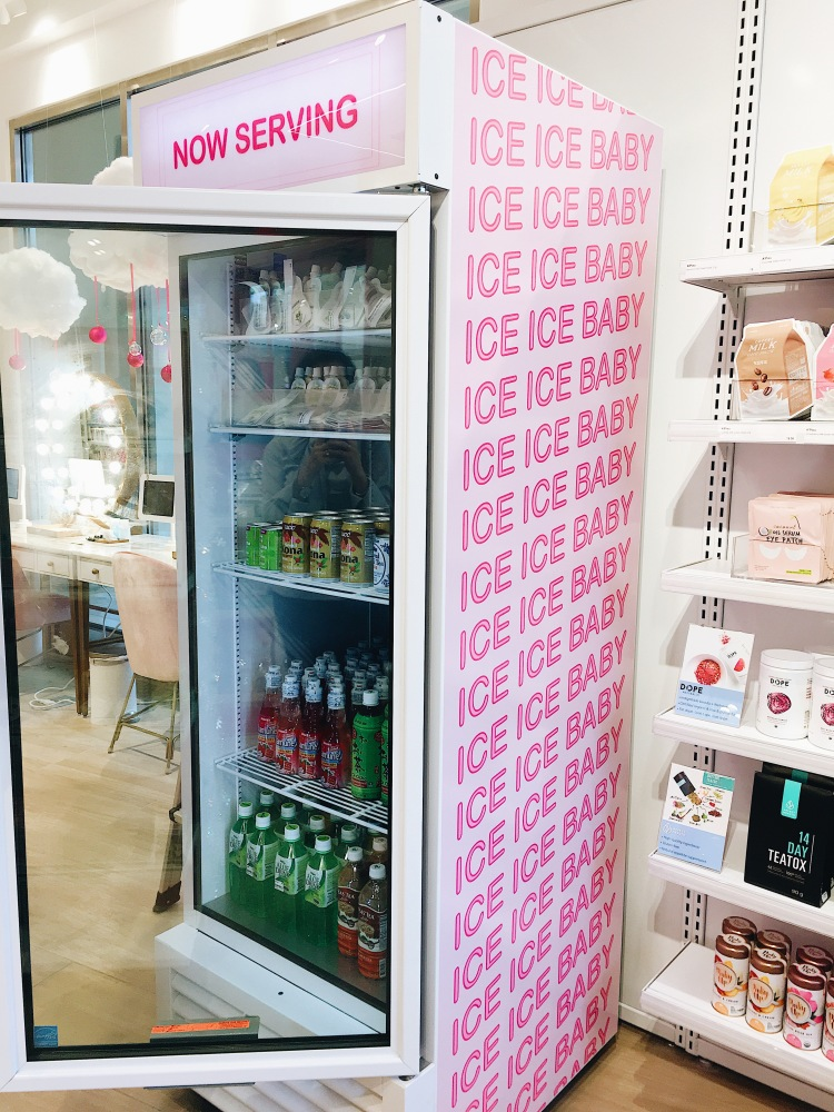 Nutrition drinks and face masks at Riley Rose