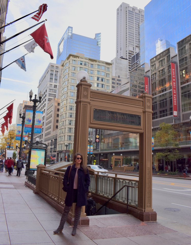 Architectural Tour of Chicago| Subway Entrance | Cathedrals and Cafes Blog