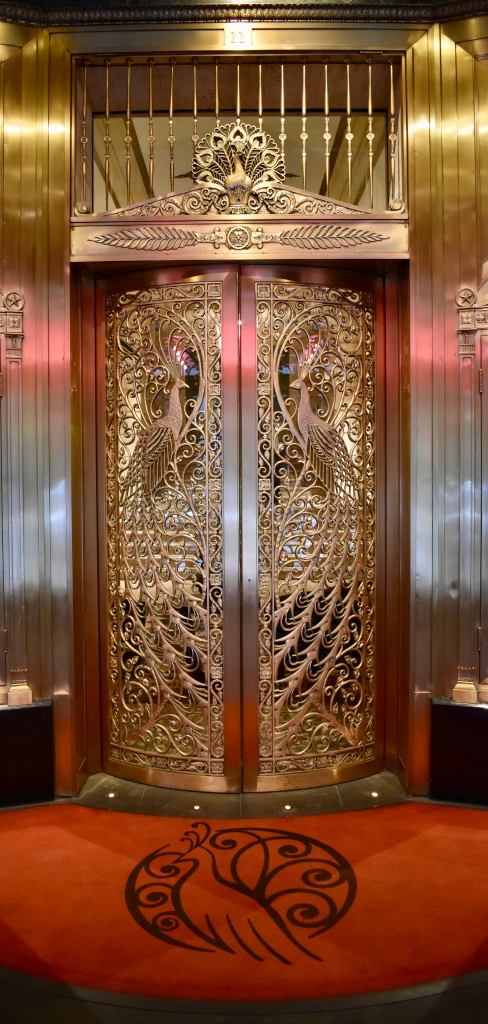 Architectural Tour of Chicago| Palmer House Peacock Doors | Cathedrals and Cafes Blog