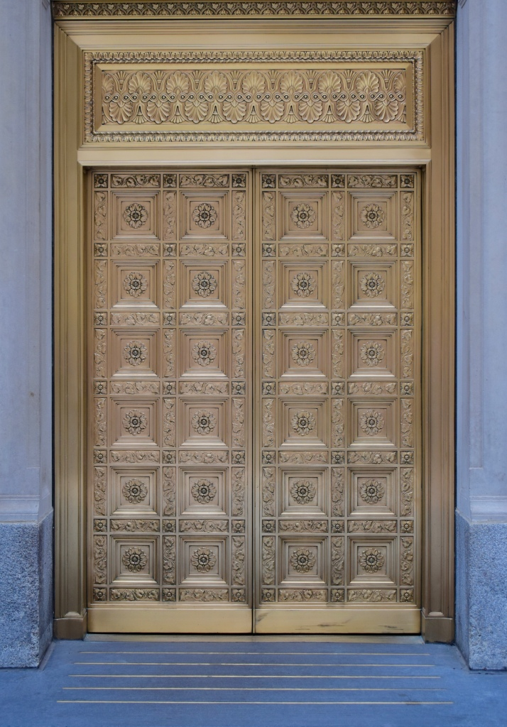 Architectural Tour of Chicago| Federal Reserve Bank of Chicago Doors | Cathedrals and Cafes Blog