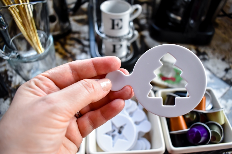 Holiday Coffee Bar Essentials Set Up | Coffee Stencils | Cathedrals and Cafes Blog