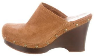 Leather Round-toe Clogs